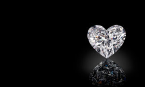heart shaped lab grown diamonds